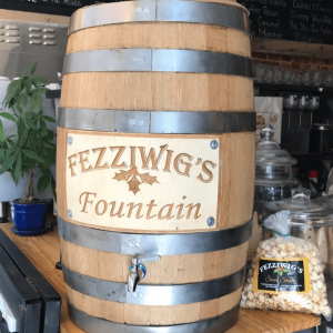 Thanks to Fezziwig's for letting us put a new take on the classic root beer barrel design. Stop into Fezziwig's for some Cookie Monster ice cream or a top notch cheese steak!