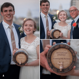 Congratulations John and Sara! Thanks Zach for thinking of ABC for a wedding gift!